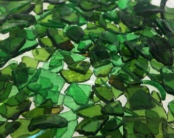 """Mixture of Green Beach Glass """"Rocks"""""""