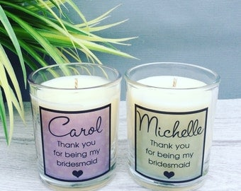 Bridesmaid Gift, Thank You For Being My Bridesmaid, Maid of Honour Gift, Personalised bridesmaid candle, Custom bridesmaid gift, Wedding