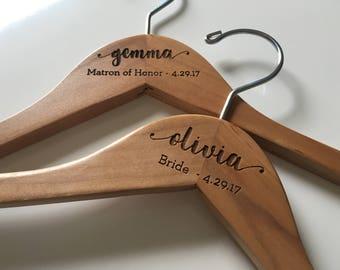 Bride Hanger | Wedding Hanger | Bridal Hanger | Wedding Dress Hanger | Bridesmaid Hangers | Personalized Hanger | Bridal Shower Gift | Bride