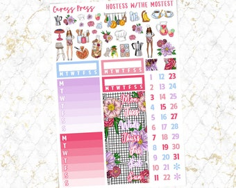 Hostess with the Mostest Sidebar, Date Covers & Deco | 74 Stickers