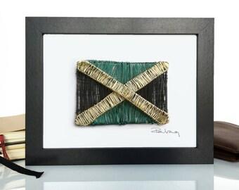 Jamaica Flag Wire Art