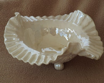 Vintage Decorative Bowl; Vintage Candy Dish; Iridescent Footed Dish