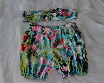 Bloomers/Flexi Shorts and  matching headband set
