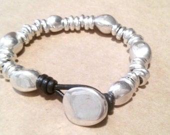 One of 50 style bracelet stones silver