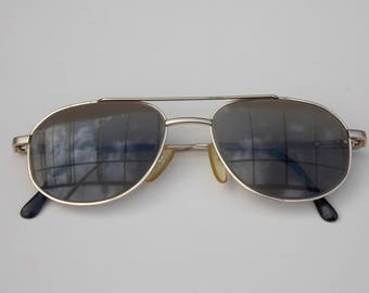 Ooptik wolf sunglasses, Gold frame, dark lens, black lens, cool sunglasses, small sunglasses, pilot sunglasses, retro, vintage 148