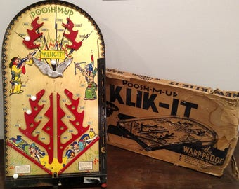 Vintage Toy Klik It Poosh-M-Up Toy Pin Game, Marble Game, Vintage Game, Vintage Toy, WITH ORIGINAL Box