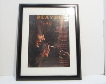 Vintage Playboy Magazine Cover Matted Framed : November 1961 - Susie Scott