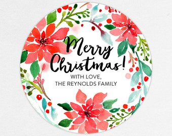 24 HOUR DIGITAL FILE, Holiday Gift Label, Christmas Gift Label, Holiday Gift Sticker, Christmas Gift Sticker, Holiday Gift Tag, Gift Tag pdf