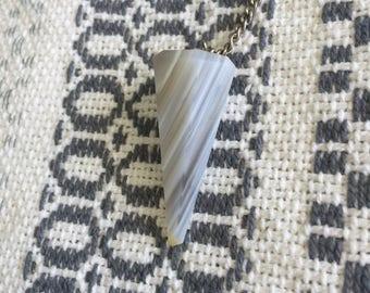 White Banded Agate Pendulum w/ Reiki