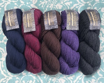 Cascade 220 100% Peruvian Highland Wool 7.75+1.25ea to Ship. Navy 8393, Purple 9345, Charcoal 4002. Knit or Felt! MSRP 9.00