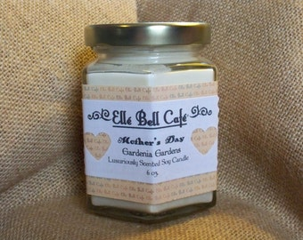 Gardenia Soy Candle, Cotton Wick Soy Candle, Scented Soy Candles, Hand Poured Candles, Gardenia Candle, Jar Candles, Housewarming Gift, 6 oz