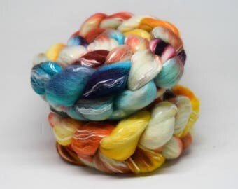 Handpainted roving | BUSY MONDAY | 100g | merino, tencel