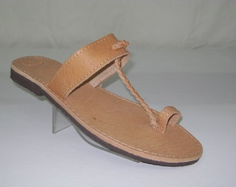 Natural  tress Leather Sandals, Greek sandals