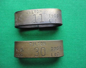 Two 1950's Dog Tags
