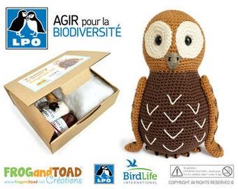 Oiseau - Chouette - Hibou - Amigurumi Crochet PDF Patron Tuto & KIT