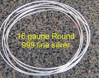 One + ounce 999 fine pure silver wire 16 gauge round dead soft 6 feet 9 inches 28 + grams