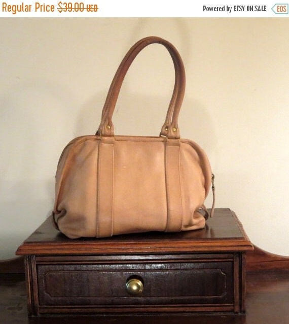 Football Days Sale Coach Taupe Leather Soft Satchel Style Number 4055 Leatherware Logo - Made In U.S.A- Distressed Zipper