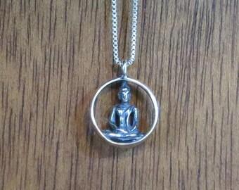Buddha Bodhisattva Pendant -STERLING SILVER- Chain Optional