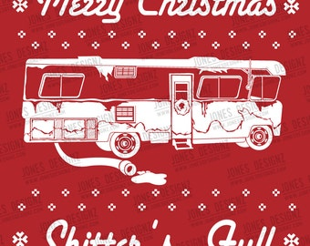 SVG Shitter Full, Ugly Sweater, Clark Griswold, Cousin Eddie, Christmas Vacation, Instant Download, Silhouette Cameo Cricut