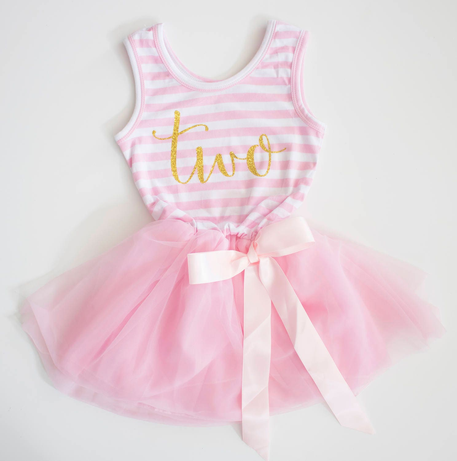 Second Birthday Dress Pink And Gold Birthday Outfit 2nd