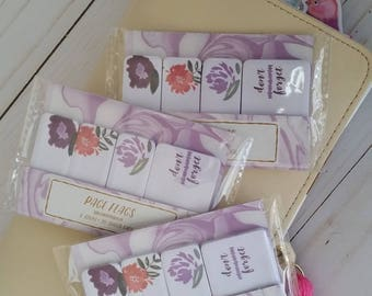Target Floral Page Flags / Floral Page Flags / Sticky Flags / Page Markers / Stationery