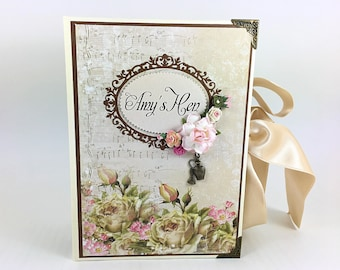 Vintage Bridal Shower Album, Hen Party Keepsake Book, Bridal Guest Book, Sign in Book, Bachelorette Album, HEN Party