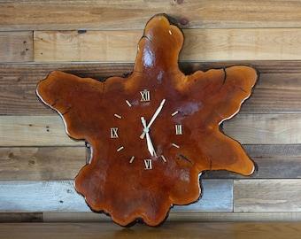 Vintage tree trunk clock - Wall clock - Slab wood wall clock