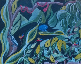 Original Acrylic on Canvas Deep in the Jungle