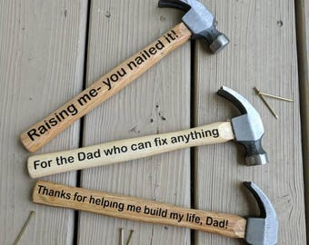 Father's day hammer, Father's day gift, personalized Father's day gift, custom Father's day hammer
