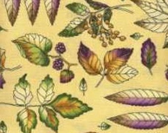 Timeless Treasures Quilting Cotton Fabric Leaves 129919 - 1/2 Yard