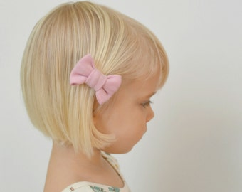Pink Bow - Petal Pink Hair Clip - Baby Toddler Hair Clip - Baby Shower Gift