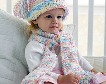 PDF Knitting Pattern- girls baby bubbles hat- fits 2-6 years