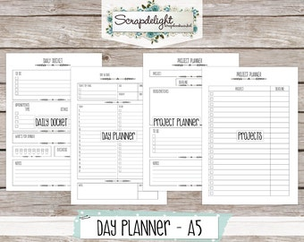Scrapdelight Printable Planner Kit 2017 - Clean - A5 Day Planner