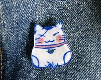 Lucky Neko Cat pin