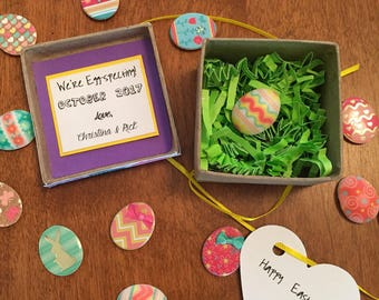 SALE-We're Egg-specting Easter Pregnancy Reveal, Easter Pregnancy Announcement, Pregnancy Reveal Gift, Pregnancy reveal to Grandparents