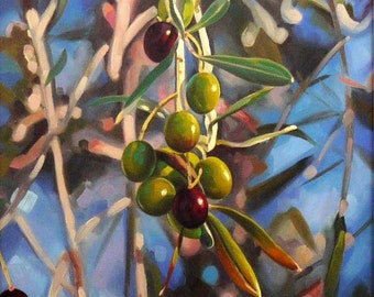 Olive branch | Original Oil Canvas Art | Classic Painting on Canvas | Realism Art | Nature art | Landscape | Hand Painted | original artwork