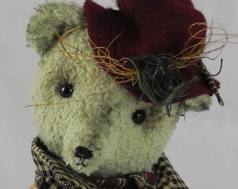 OOAK artist bear, teddy bear, unique, FREDDY