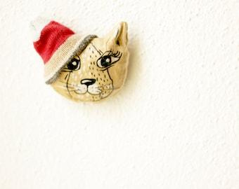 Christmas gifts, Cat brooch Cute cat, Brooch cat, Cute brooch, Painted brooch, Cat jewelry, Christmas SALE