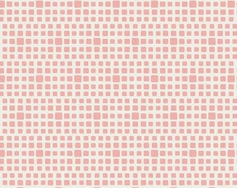 Rosewater - Squared Elements - by AGF Studios - Art Gallery Fabrics - SE-601 - Blenders - Basics - Stash Builder - Blush - Pink