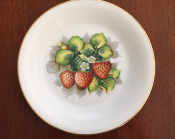 Gorgeous Vintage Handpainted Decorative Plate Made in Occupied Japan Strawberries