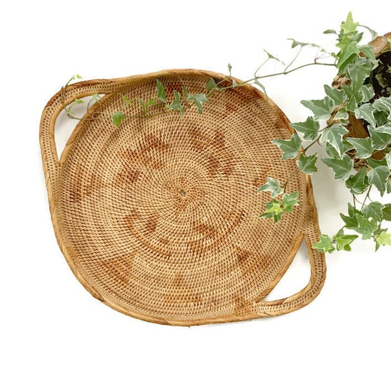 Large Woven Rattan Basket Wall Hanging Basket By