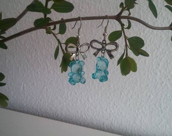 Earrings - sweet blue gummibears