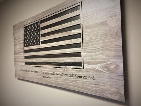 American flag wall decor wood wall art religious decor American flag wood wall art