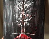 AHS Series-My Bloody Roanoke Nightmare Painting