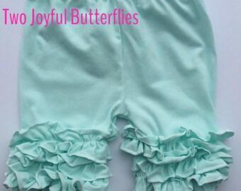 SALE Icing Ruffle Shorts - Mint Shorts - Spring Shorts - Summer Shorts