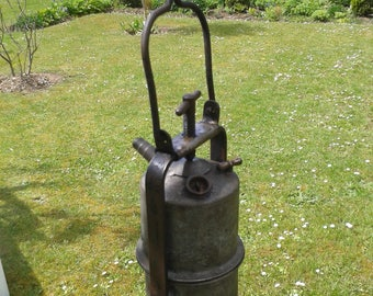 Ancient lamp with acetylene of miner.