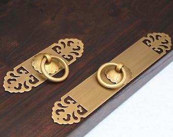 Vintage Brass Drawer Pulls Handles Knobs Kitchen Cabinet Handle Pulls Gold  Antique Bronze Dresser Pull Back