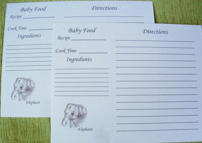 Recipe cards baking recipe card baby food recipe card 799 forumfinder Gallery
