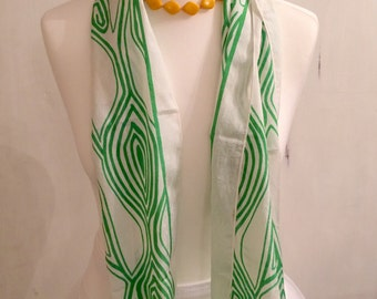 Beautifully bright vintage scarf