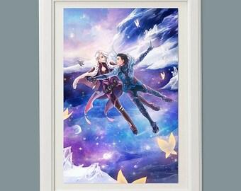 Yuri on Ice fantasy scenery art poster